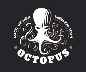 Octopus logo design vector