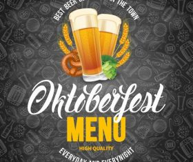 Oktoberfest menu vector