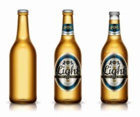 Old brand premium brand beer vector