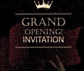 Opening invitation card vector