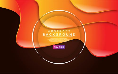Orange gradient background vector