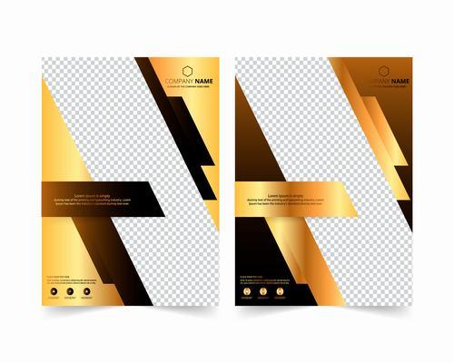 Ordinary cover company brochure design vector