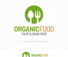 Organic food logo vector