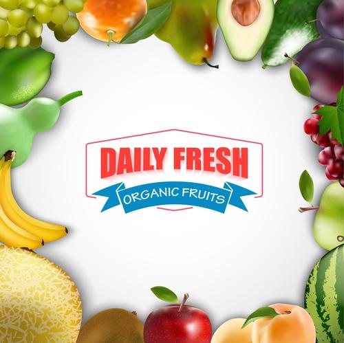 Organic fruits vector