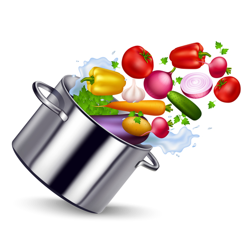 Organic healthy ingredients vector