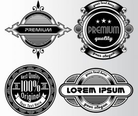 Original retro label design vector