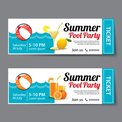 Party invitation card banner vector