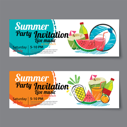 Passion summer party vector