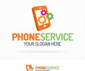 Phone service logo vector