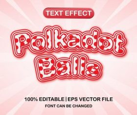 Pink and red font text effect vector