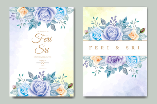 Plant background wedding card vector