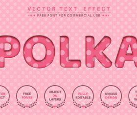 Polka dot font style effect vector