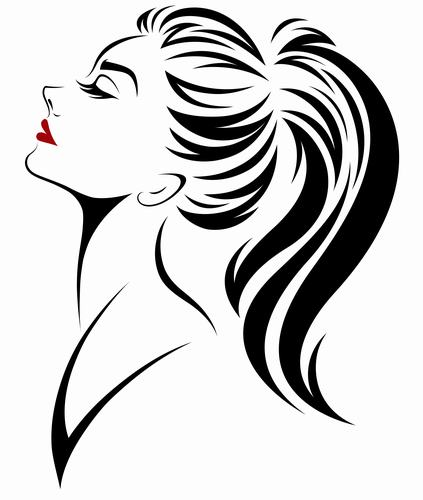 Ponytail hairstyle girl vector