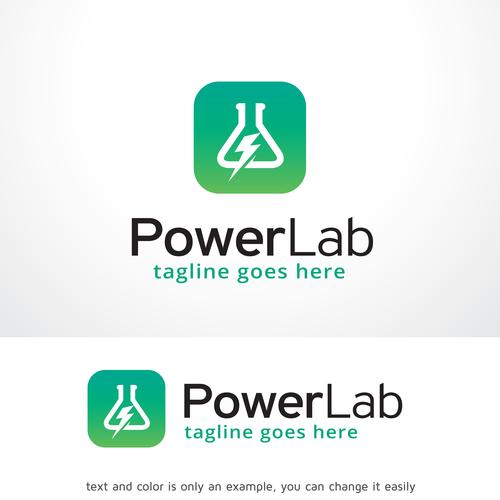 Power Lab App logo vector