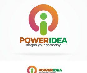 Power idea logo vector