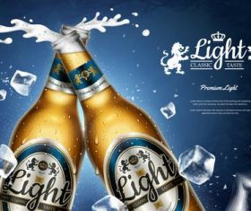 Premium brand beer vector