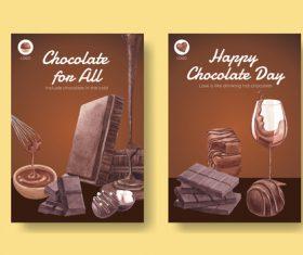 Premium chocolate poster vector