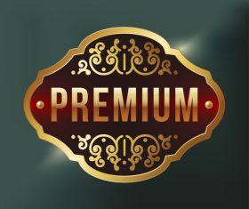 Premium label design vector