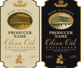 Premium olives banner label vector