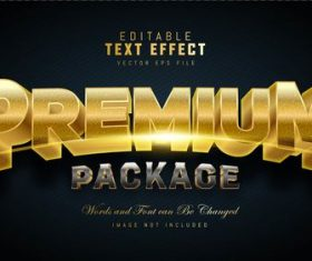 Premium package text effect vector