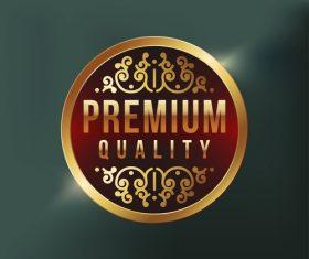 Premium quality label design vector