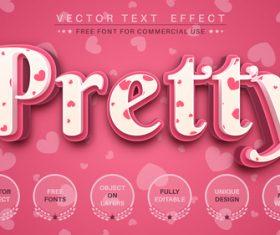 Pretty vector text effect