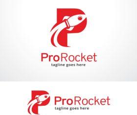 Pro Rocket logo vector