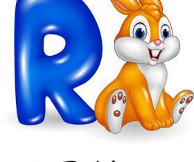 Rabbit and alphabet vector
