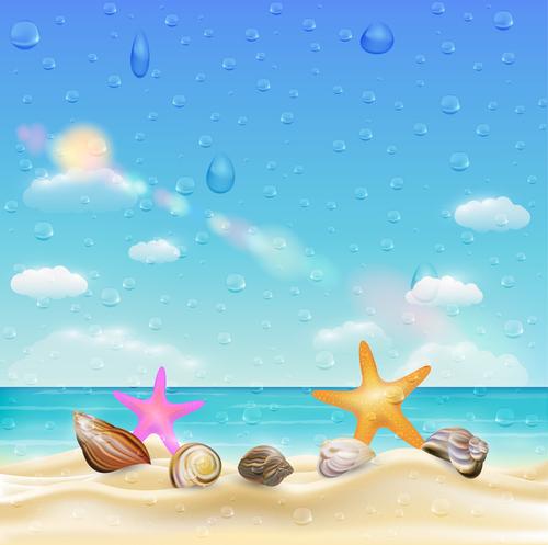 Raindrop beach vector