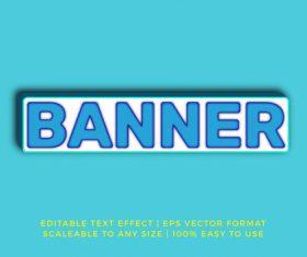 Rectangle banner 3d title text effect vector