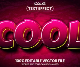 Red Cool text font style vector
