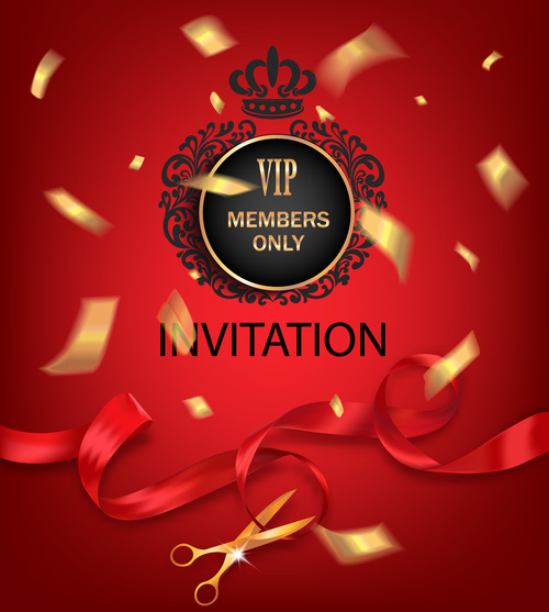 Red VIP members only invitation vector