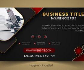 Red black business card design vector