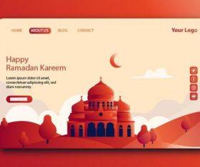 Red login website page design vector