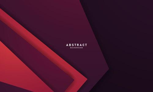 Red purple geometric background vector
