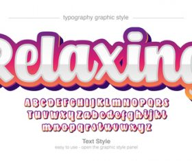 Relaxing style text vector