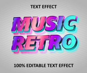 Retro rainbow editable text effect rainbow pastel vector