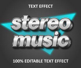 Retro strong editable text effect silver transform vector