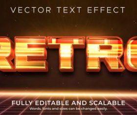 Retro text effect vector