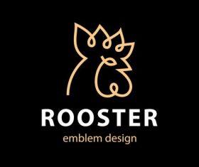 Rooster design logo vector