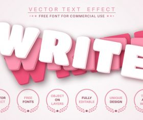 Rotate layer font style effect vector