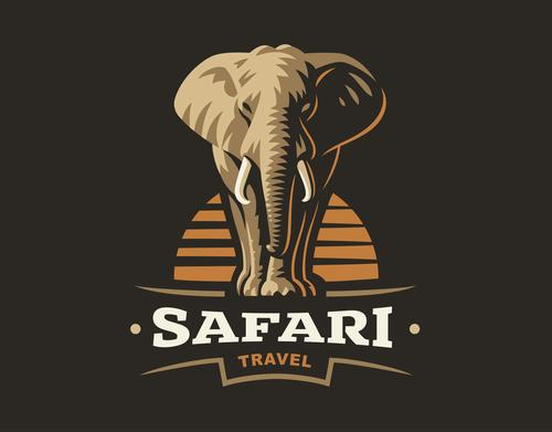 Safari travel logo design vector