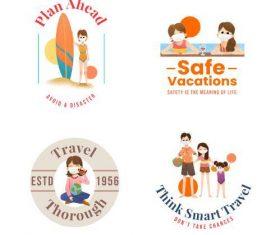 Safe vacations illustration vector
