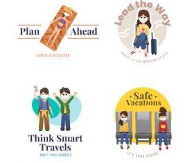 Safety distance illustration vector