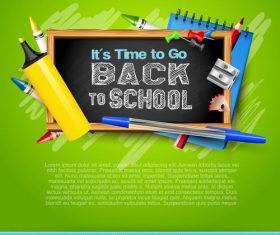 School blackboard green vector