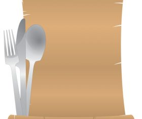 Scroll menu design vector