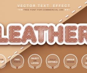 Seamstress font style effect vector