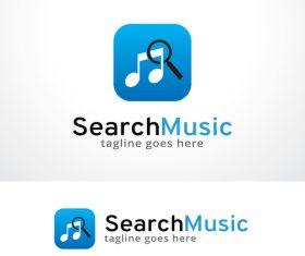 Search Music logo vector