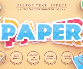 Set sticker vector text effect