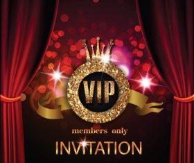 Shiny luxury invitation card vector